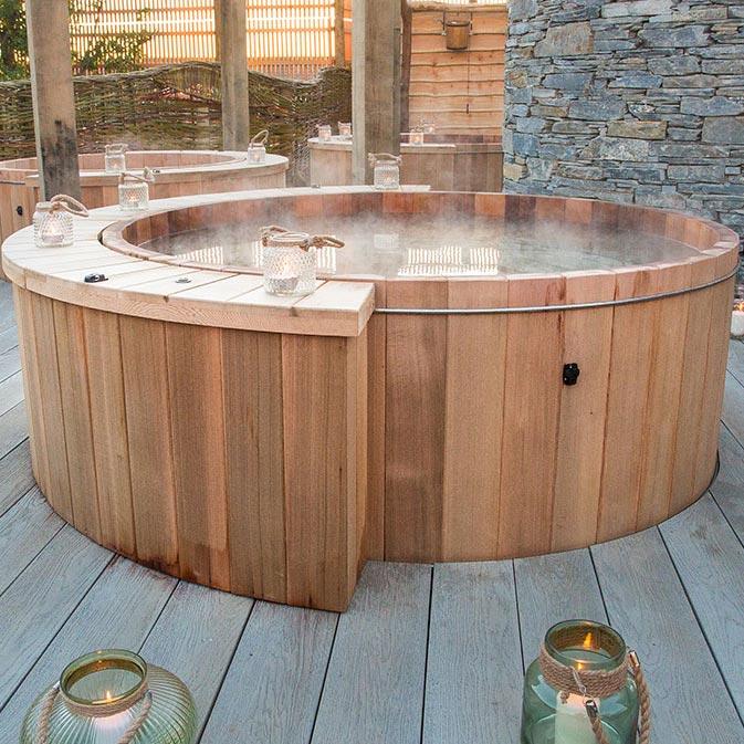 Wooden Barrel Hot Tub Installers Uk International Riviera Hot Tubs